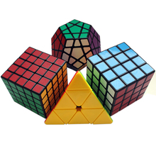 Professional Racing Magic Cube 3x3x3 4x4x4 5x5x5 Puzzle Magic Cube for Kid Child Adult & Megaminx Cube Puzzle with Lubricant(China)