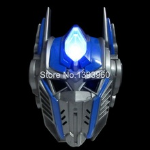 Adult Children Favor Lighting LED Optimus Prime Mask Cosplay Costume Huang Feng Masquerade Masks Party High Quality