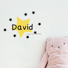 Customer-made Any Kids Name with Stars DIY Creative Wall Sticker Removable Children Room Decorl Various Colors are available
