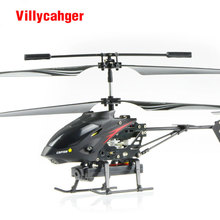 S977 3.5 CH Radio remote Control Metal Gyro rc Helicopter With Camera / rc camera helicopter(China)
