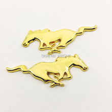 2016 New Car Styling Running Horse Back Sticker Car Emblem Badge For Ford Mustang Shelby Right & Left Side Stickers
