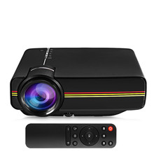 YG400 Portable LCD 1200 Lumens 1000:1 Projector with Remote Control LED Home Theater with Mic Support VGA HDMI USB SD Card