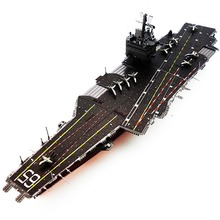 Colorful USS Enterprise CVN-65 Fun 3d Metal Diy Miniature Model Kits Puzzle Toys Children Educational Boy Splicing Hobby