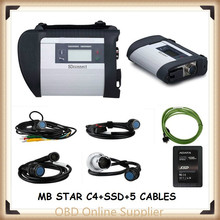 MB Star C4 SD Connect Star Diagnosis Xentry DAS System Compact 4 Multiplexer For Mercedes Benz Diagnostic Tool with ssd Software