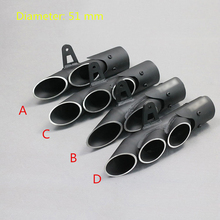 38-51MM Universal Motorcycle Exhaust Pipe With Dirt Street Bike Scooter Tail Pipe For Kawasaki ZX6R10R Yamaha 250/300(China)