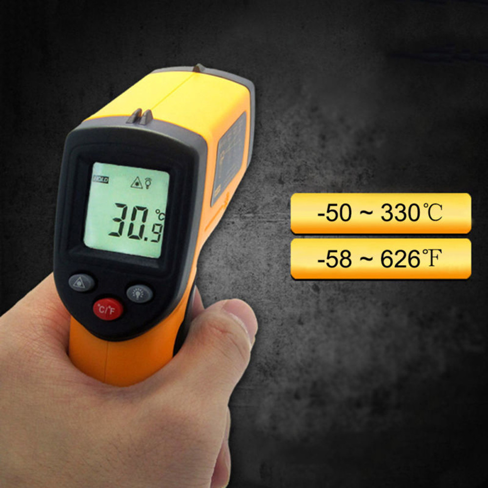 Gun Meter Temperature Handheld Digital Ir-Laser-Point-Thermal Infrared Non-Contact LCD title=