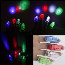 New100 pcs/lot led finger light 4 color laser finger lamp light for party. birthday,Chistmas decoration toy Free shipping TY01(China)