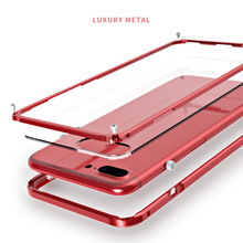 LUPHIE Best Quality Metal Phone Bumper for Apple iphone 7 7 Plus Light Slim Easy Instal Knock Proof Cases Phone Dress Capa