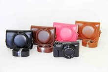 New Leather Camera Case For Canon Powershot G7X Mark 2 G7X II G7X2 Digital Camera PU Leather Camera Bag Cover + strap