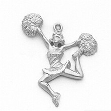 20 pieces a lot Hot Sale High Quality Jumping Poms Cheerleader Charm For Jewelry Accessories