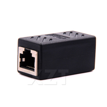 1pcs Hot Female to Female Network LAN Connector Adapter Coupler Extender RJ45 Ethernet Cable Join Extension Converter Coupler