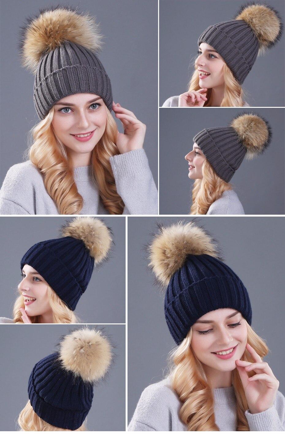قبعات صوفية  بالوان مختلفة 7