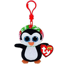 "Pyoopeo Ty Beanie Boos 4"" 10cm Penelope Penguin Clip Plush Keychain Stuffed Animal Collectible Big Eyes Doll Toy(China)"