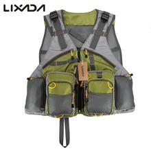 Lixada Top Fly Fishing Vest Quality Mesh for Men Women Carp Fishing Tackle Box Pesca Back Multifunction Pockets Fishing Vest(China)