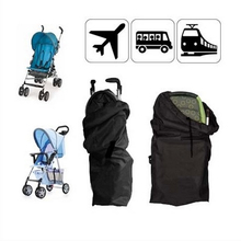 1PC Oxford Cloth Car Air Umbrella Stroller Pram Baby Bag Buggy Travel Cover Case Black Stroller Accessories