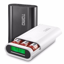 TOMO M3 Intelligent Portable Power Bank For Cellphone 18650 External Battery Charging Case Battery Replaceable(China)