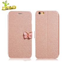 OTAO For iPhone X 8 7 Plus 6S Plus 5S 5C SE Jewelled Flip Stand Mobile Phone Cover Case Fashion PU Silk Leather Phone Back Case(China)