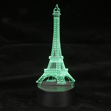 3D Optical Illusion LED Table Night Light Remote Control USB Cable Battery Operated Desk Lamp Valentine's Day Halloween