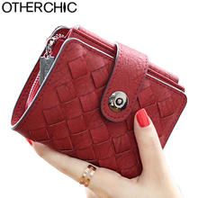 OTHERCHIC Fashion Women Short Wallets Ladies Vintage Small Wallet Women Zipper Roomy Female Coin Purse Girl Wallet Purse 5N12-16