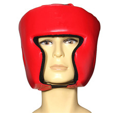 HOT Fitness Boxing Helmet Head Protector Headgear Face Protector Guard Sport Safety For Training Thai Kick Sparring Muay Gym(China)