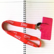 250pcs Free shipping+Free design]Custom logo print flat neck lanyard,company promotion personlized ID card neck strap