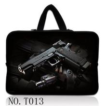 "Men's Black Gun New Girl Laptop Sleeve Case Bag Pouch For 16"" 17"" 17.3"" 17.4"" inch Netbook Cover(China)"