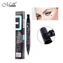 Menow sparkle cool black liquid eyeliner pencil waterproof E15003 quick dry eye liner pen with star stamp long lasting MN025