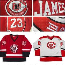 SexeMara Pittsburgh Barons white red custom Jersey NEW Any Size Any Player or Number shirts size Small S - 4xl(China)