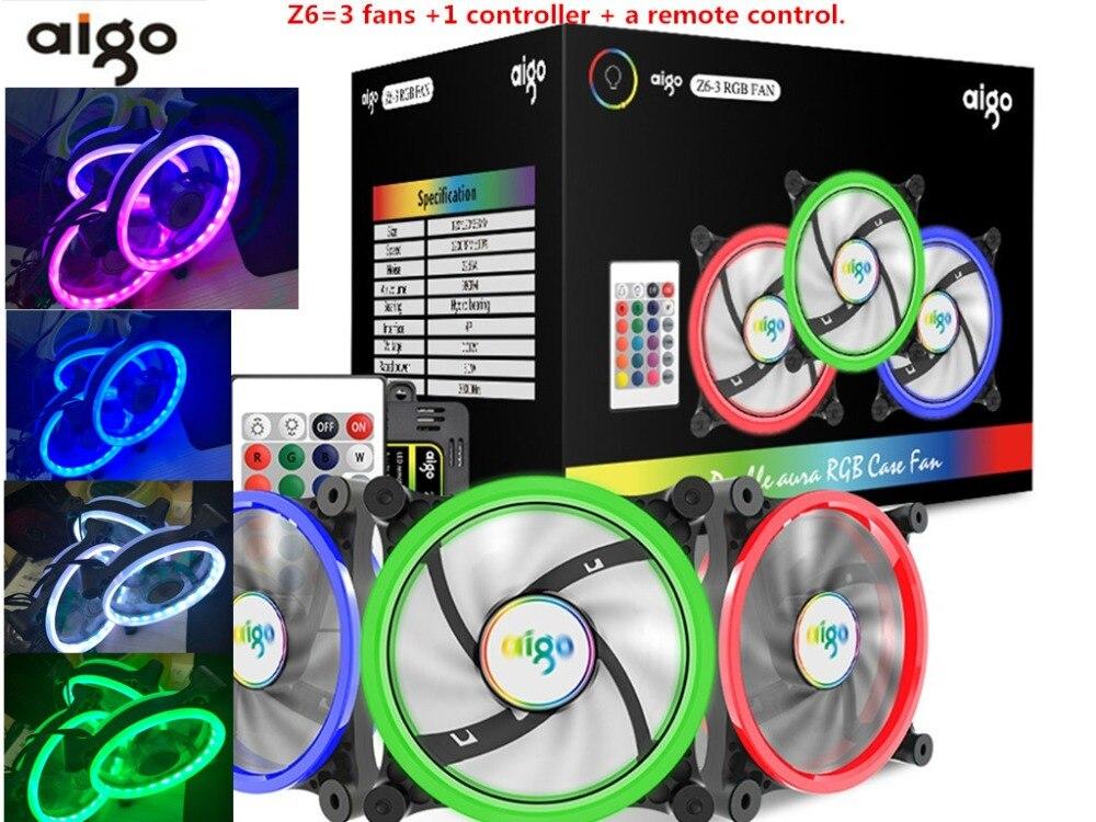 Aigo Z6 fan RGB LED Computer Case PC Cooling Fan 1...