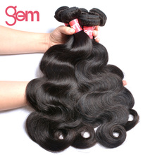 Malaysian Body Wave Remy Hair Extensions Gem Beauty Hair Products 1Pc/Lot Can Be Bleached 100% Human Hair Weave Bundle Free Ship
