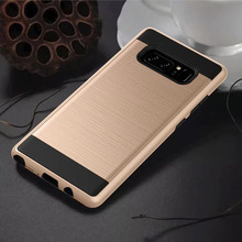 For Samsung Galaxy Note 8 Case SGP armor Antiskid Metal Wiredrawing Fallproof Back Cover For Samsung note 3 4 5 Smart cover