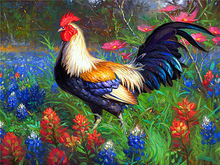 Full drill diamond embroidery Big cock needlework cross stitch full round rhinestonescrafts painting garden sets