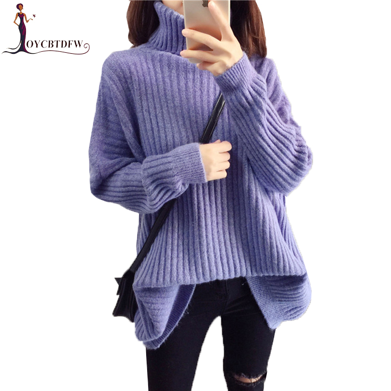 Winter Turtleneck Sweater Women Knit Pullover 2018 Autumn New Sweater Female Korean Loose Warm Coltrui Dames Sweater Winter N631