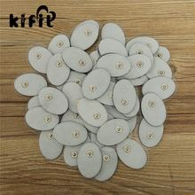 KIFIT 50pcs Non woven White Electrode Pads Electronic Cervical Vertebra Physiotherapy Massager Tools For Digital Tens Machine