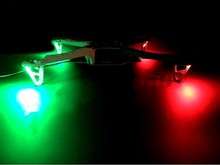 F450 F330 Rack high power LED lights Model aircraft FPV four-axis set of four navigation lights   Packing list: 4 sets of LED