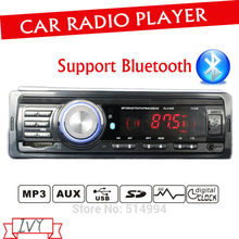 2014 new arrival,car radio player,Support BLUE TOOTH,USB SD AUX IN remote control bluetooth, 12V 1 din car audio, car stereo mp3(China)
