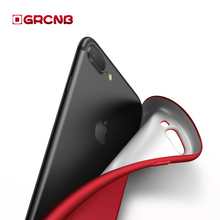 luxury Matte Soft case for Apple iPhone 7 6 6s Plus Covers TPU Silicone Cover For iPhone X 10 8 Plus Protective Case Full Cover(China)