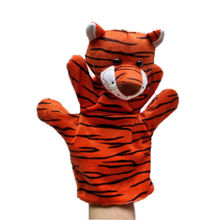 Plush tiger hand puppet, stuffed tiger hand puppet,  hand puppets free shipping  t
