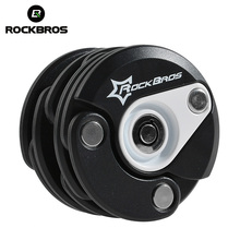 ROCKBROS Bike Anti Theft Mini Foldable Chain Lock Folding-locks Hamburg-Lock Bicycle Cycle Cycling Locks 4 Colors