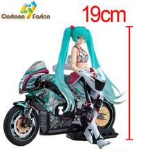 Anime Figma 233 Hatsune Miku with Motorcycle PVC Action Figure Collectible Model Toy Best Gift withe Retail Box