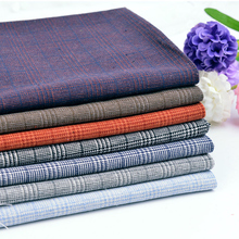Woven linen cotton blend fabric wholesale supplier manufacturer for western suit pillow curtain dress home textile W300065