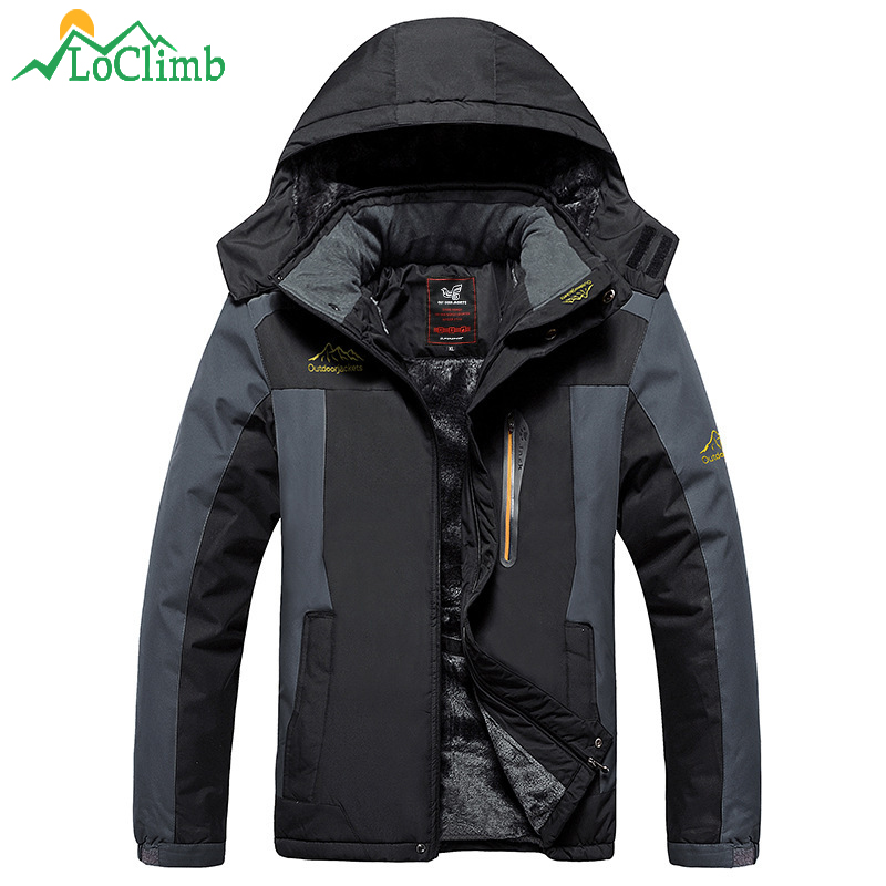 LoClimb Plus Size L-9XL Warm Winter Camping Hiking Jackets Men Windproof Waterproof Outdoor Sport Coat Treking Ski Jacket,AM200<br>