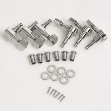 3R 3L Right String Tuning Pegs Tuners Chrome Inline Guitar Machine Head 3 Left 3 Right  Right est free shipping