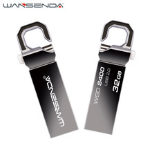 2016 new brand Wansenda 32gb Stainless Steel USB Flash Drive 4gb Pen Drive 8gb 16gb Flash Drive USB 2.0 Memory Stick Pendrive