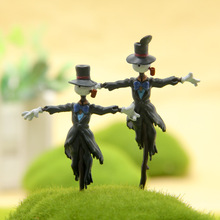 2 Style Hayao Miyazaki mobile Castle Scarecrow Da Toucai hand to do DIY micro landscape gardening doll(China)
