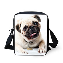 FORUDESIGNS Cute Pet Cat Animal Bags For Girls Small Crossbody Bags,Pug Dog Bolso Women Kids Messenger Bag Boys Causal Bags(China)