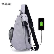 Buy TAOLEQI Brand Canvas Men Chest Pack Crossbody Bag Casual Travel Rucksack Chest Bag Small Sling Bags Men Shoulder Back Pack Black for $20.71 in AliExpress store