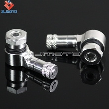 ZJMOTO Silver Motorcycle Tire Valve Stems Cap Wheels 11.3mm CNC Aluminum For Ducati 748 749 848 999 1098 Monster 600 620 696 900