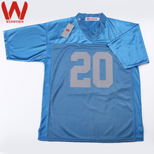 WENWUBIN Mens #20 Barry Sanders Embroidered Throwback Football Jersey