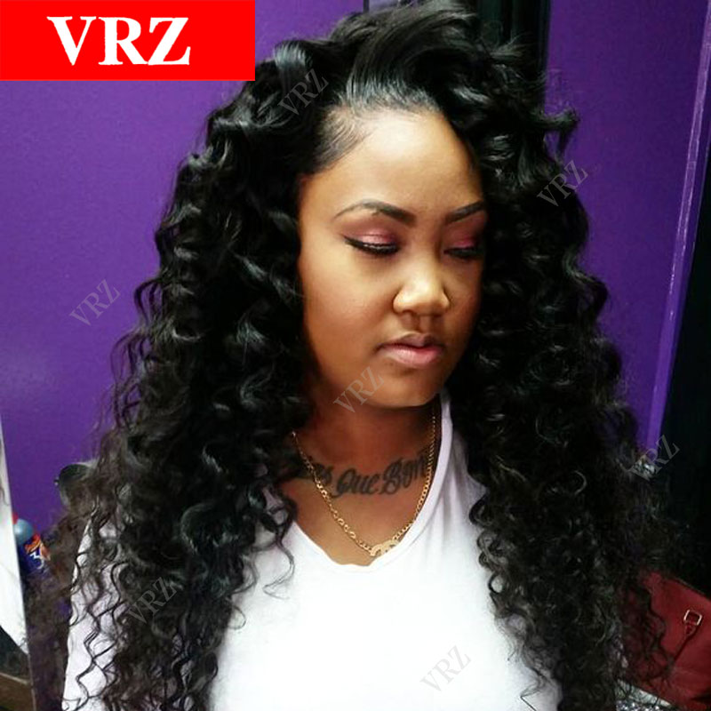 Curly Brazilian Virgin Hair Full Lace Human Hair Wigs With Baby Hair Glueless Lace Front Curly Human Hair Wigs For Black Women<br><br>Aliexpress